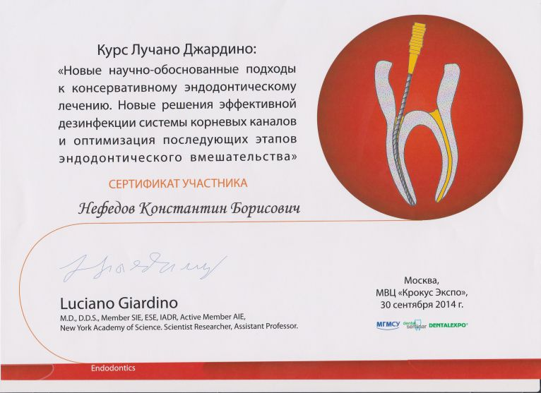 Сертификат номер 12